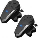 BETOWEY BT-S3 Intercom Moto Duo pour 2 Casques Bluetooth Kit Main Libre Headphones Intégrable Au Casque Moto Ski