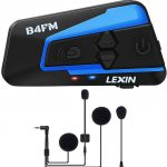 LEXIN LX-B4FM 1-4 Motards Intercom Moto Bluetooth Écouteur Casque Communication Systèmes Bluetooth Anti Bruit Portée 1 Mile pour Casque...